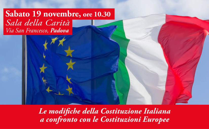 Le modifiche della Costituzione Italiana a confronto con le Costituzioni Europee