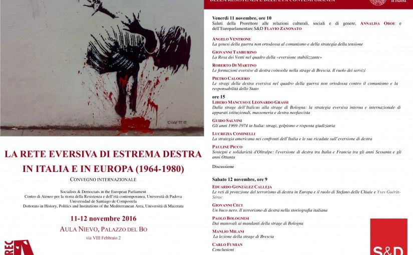 La rete eversiva di estrema destra in Italia e in Europa: il Convegno all'Università di Padova